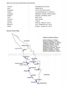 kerala tourist map